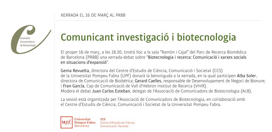 Comunicant investigació i biotecnologia